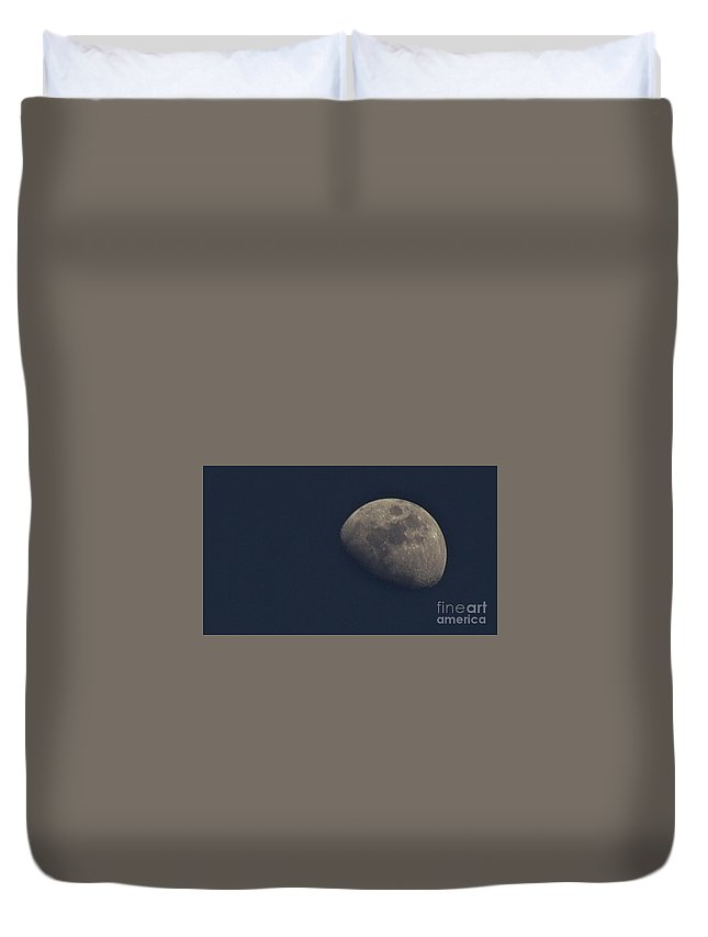 Moon Duvet Cover featuring the photograph Day Moon by Ty Shults
