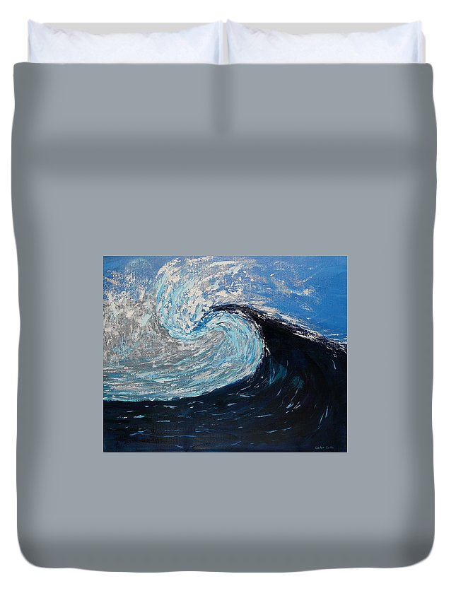 Seascape Duvet Cover featuring the painting Daybreak by Anchen Martin