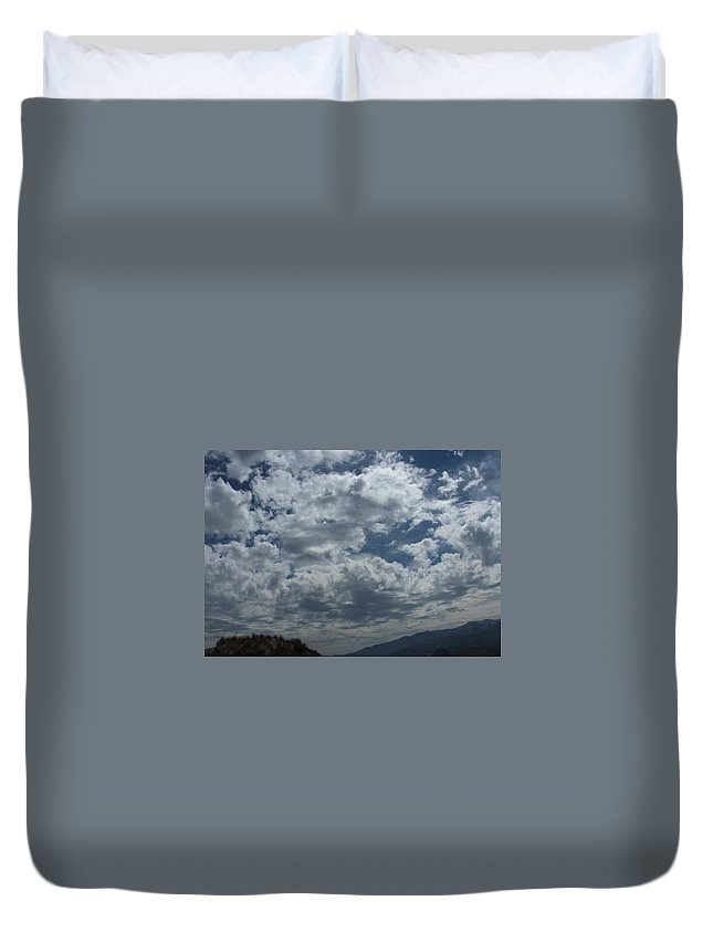 Clouds Duvet Cover featuring the photograph Daydreaming by Shari Chavira