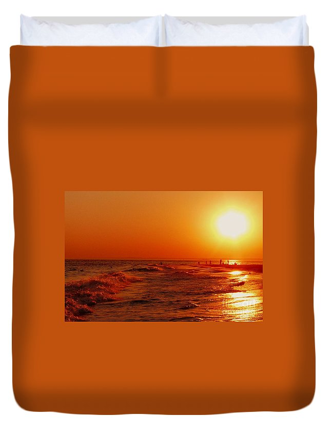 Sunset Duvet Cover featuring the photograph Day's End by Kendall Eutemey