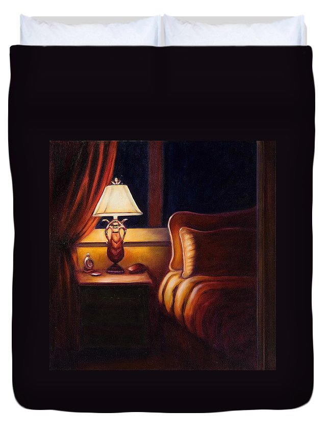 Still Life Duvet Cover featuring the painting Days End by Shannon Grissom