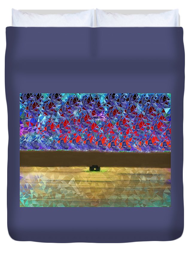 Abstract Duvet Cover featuring the photograph Days End by Tim Allen
