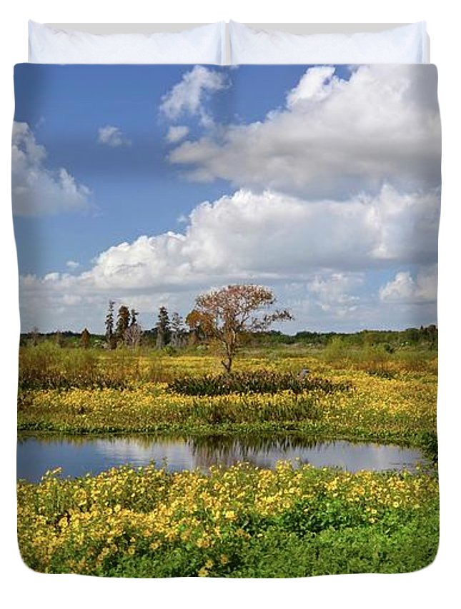 Marsh Duvet Cover featuring the photograph Days Of Glory by Carol Bradley