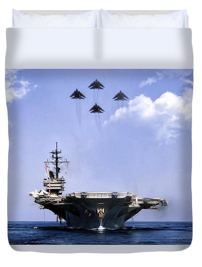 Aviation Duvet Cover featuring the digital art Days Of Wine And Roses by Peter Chilelli