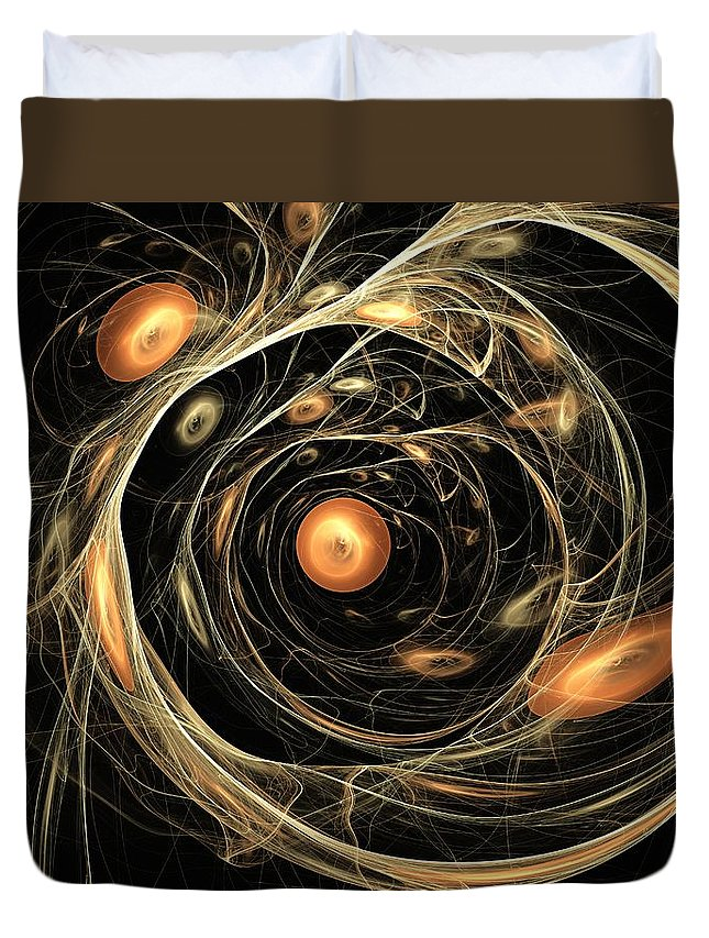 Art Duvet Cover featuring the digital art Dazhbog by Jeff Iverson