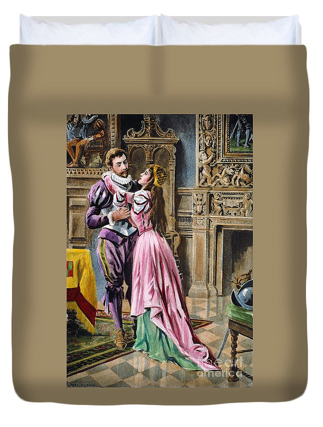 1539 Duvet Cover featuring the photograph De Soto & Isabella, 1539 by Granger