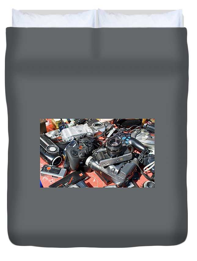 Analog Duvet Cover featuring the photograph Dead Tech 1 by Sam Gish