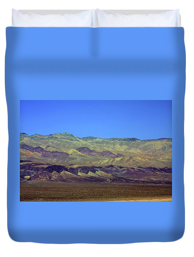 Death Valley National Park Duvet Cover featuring the photograph Death Valley - Land Of Extremes by Christine Till
