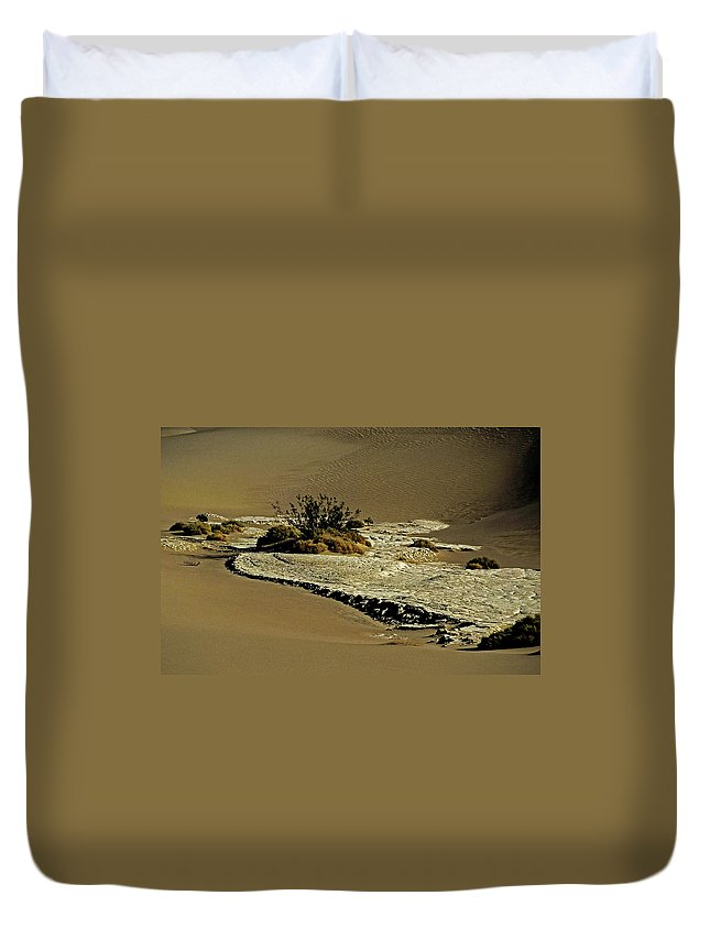 North America Duvet Cover featuring the photograph Death Valley Salt by Juergen Weiss