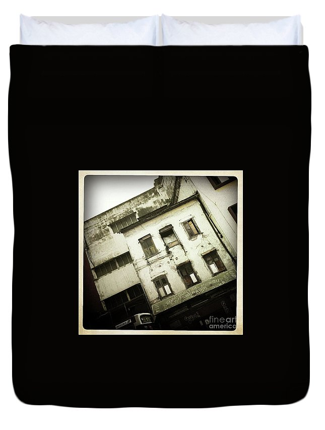 Malaysia Duvet Cover featuring the photograph Decay Kuala Lumpor by Collective Seventy