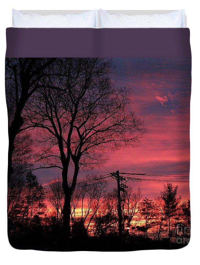 Sunrise Duvet Cover featuring the photograph December Morning by Gina Sullivan