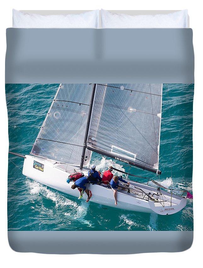 Belle Mente Duvet Cover featuring the photograph Decision Key West by Steven Lapkin