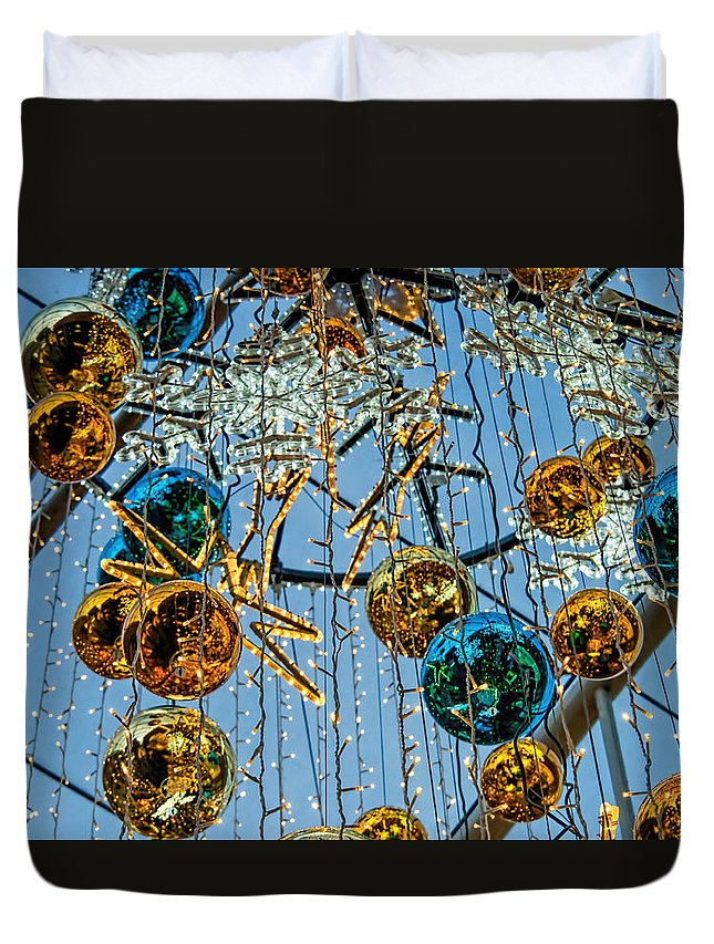 Decorations Duvet Cover featuring the photograph Deck The Halls 1 by Susie Peek