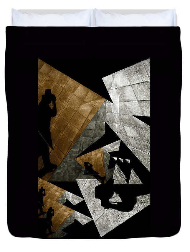 Abstract Duvet Cover featuring the photograph Deconstruction by Wayne Sherriff