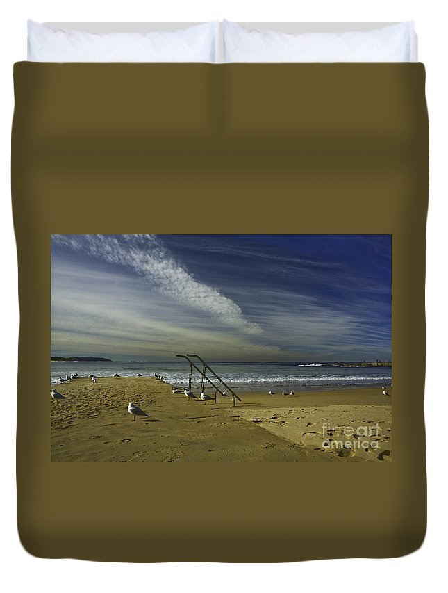 Beach Duvet Cover featuring the photograph Dee Why Beach Sydney by Sheila Smart Fine Art Photography
