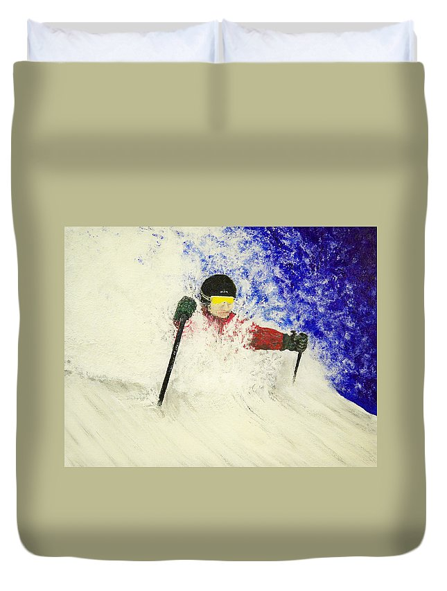 Utah Duvet Cover featuring the painting Deeeep by Michael Cuozzo