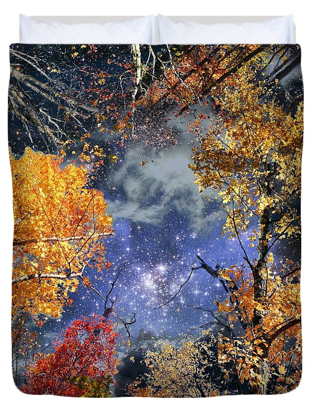 Deep Space Duvet Cover featuring the photograph Deep Canopy by Dave Martsolf