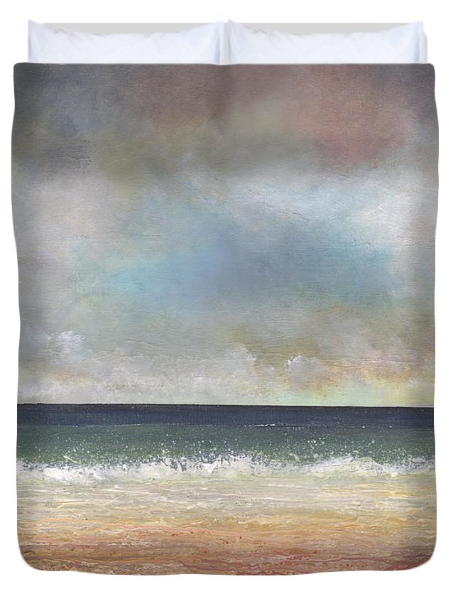 Coast Duvet Cover featuring the painting Deep Channel by John Tregembo