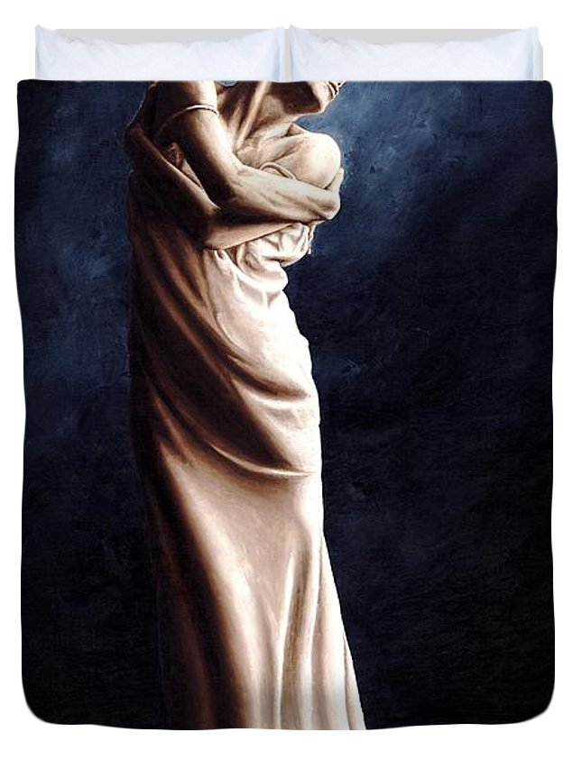 Dancer Duvet Cover featuring the painting Deep Consideration by Richard Young