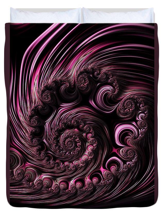 Fractal Duvet Cover featuring the digital art Deep Purple by Steve Purnell