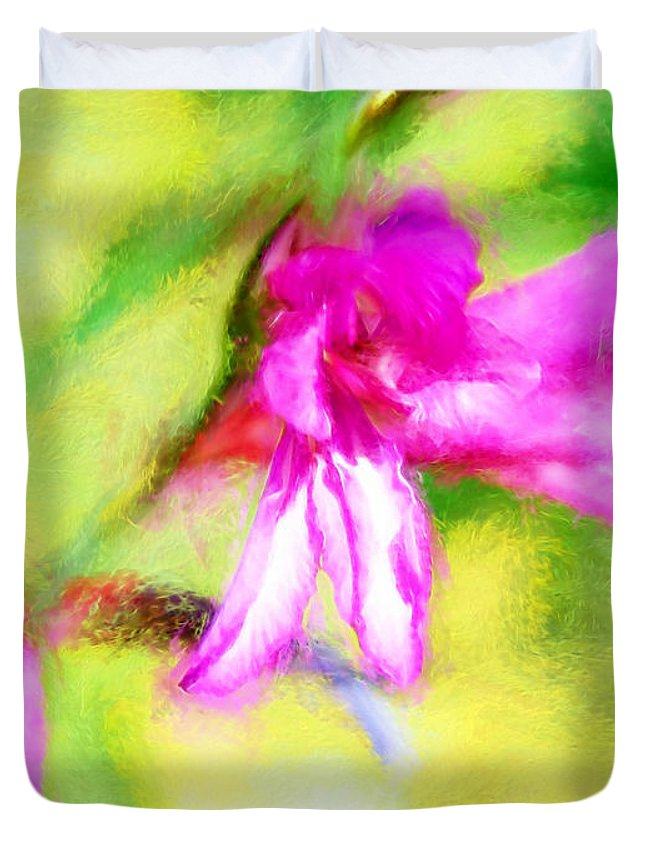 Flower Fine Art Duvet Cover featuring the painting Deep Serenity by Francine Collier