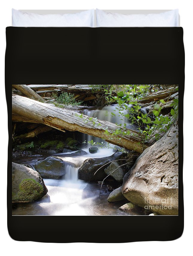 Creek Duvet Cover featuring the photograph Deer Creek 03 by Peter Piatt