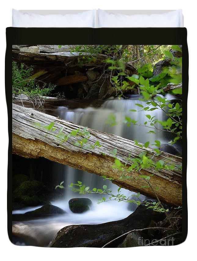 Creek Duvet Cover featuring the photograph Deer Creek 13 by Peter Piatt