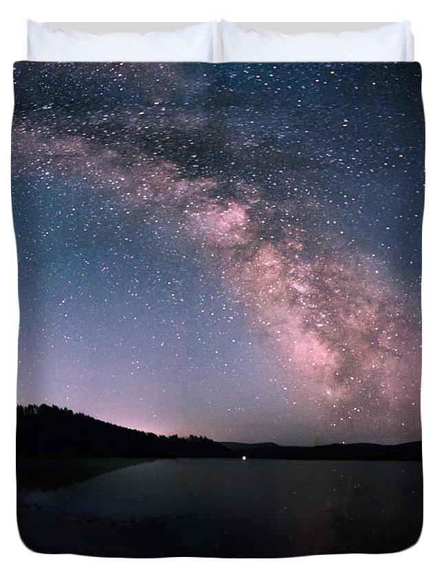 Dakota Duvet Cover featuring the photograph Deerfield Lake Milky Way by Dakota Light Photography By Dakota