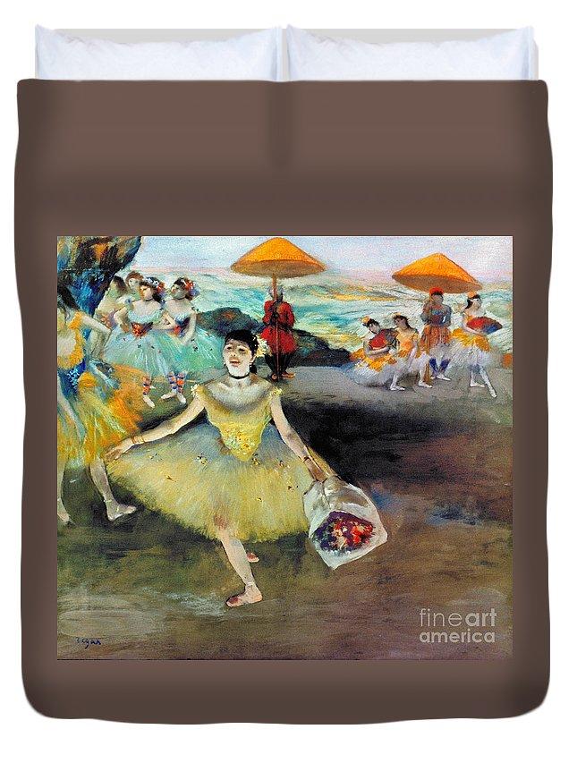 Aod Duvet Cover featuring the photograph Degas: Dancer, 1878 by Granger