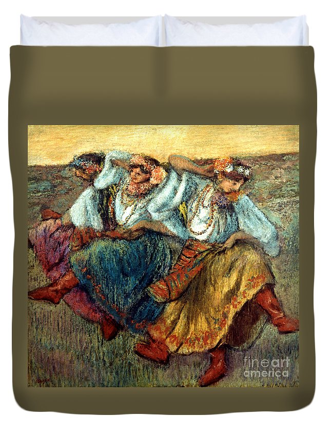 19th Century Duvet Cover featuring the photograph Degas: Dancing Girls, C1895 by Granger