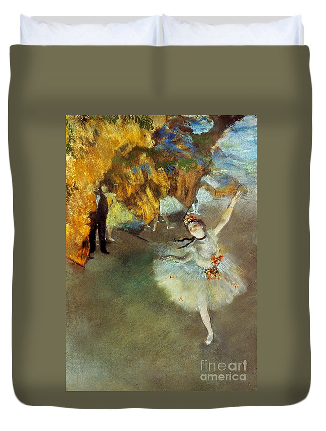 19th Century Duvet Cover featuring the photograph Degas Star, 1876-77. To License For Professional Use Visit Granger.com by Granger