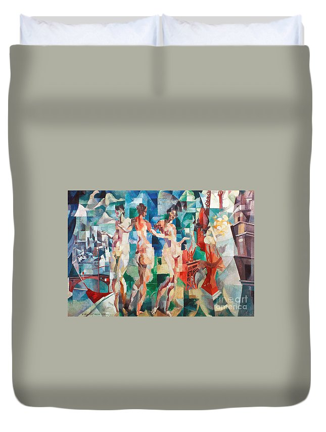 1910s Duvet Cover featuring the photograph Delaunay: City Of Paris by Granger