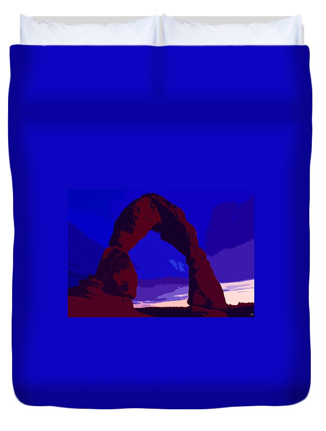 Delicate Arch Duvet Cover featuring the painting Delicate Arch by David Lee Thompson