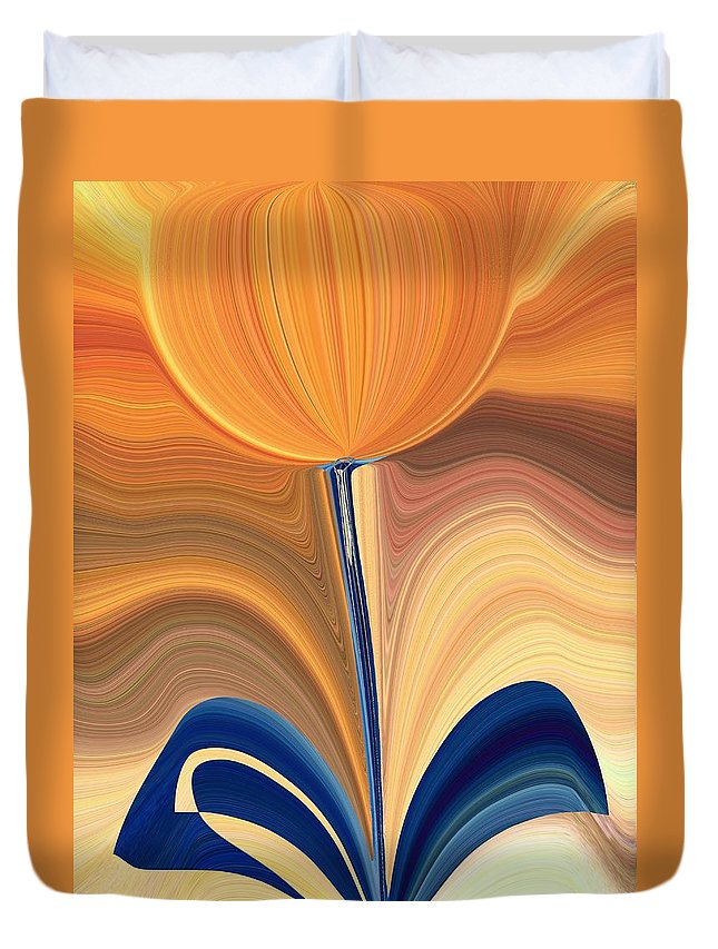 Bloom Duvet Cover featuring the digital art Delighted by Tim Allen