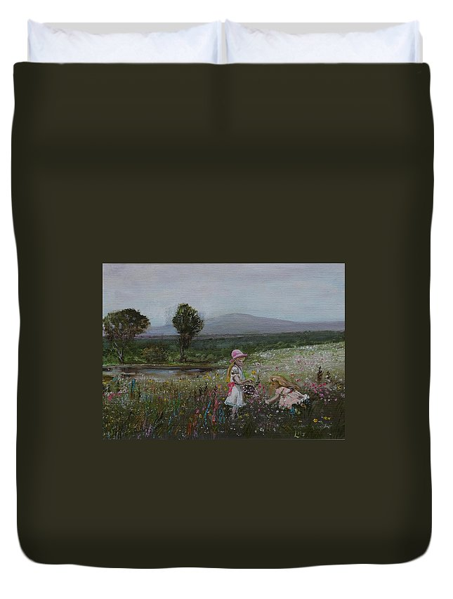 Impressionist Duvet Cover featuring the painting Delights Of Spring - Lmj by Ruth Kamenev