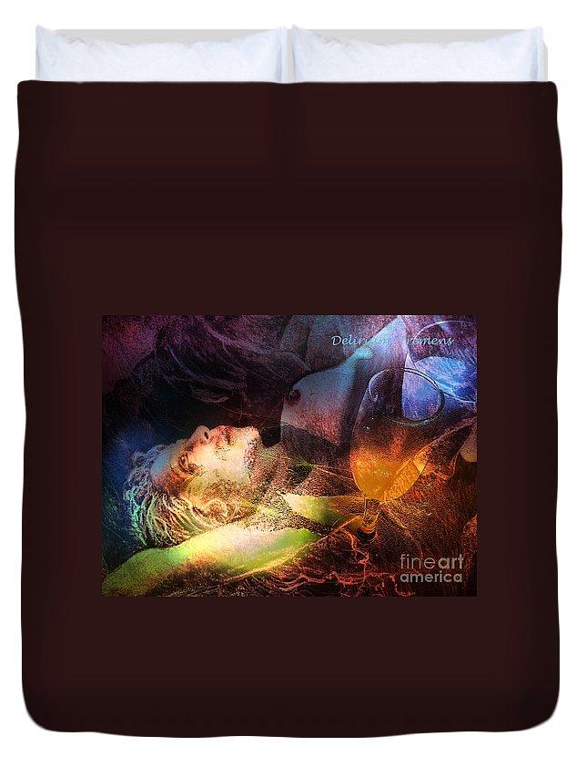 Fantasy Duvet Cover featuring the painting Delirium Tremens by Miki De Goodaboom