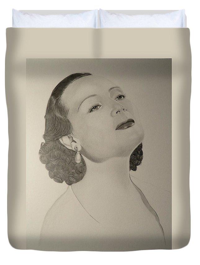 Delores Del Rio Duvet Cover featuring the photograph Delores Del Rio by Cheryl Thompson
