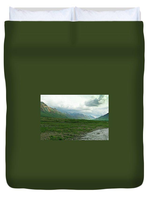 Denali Duvet Cover featuring the photograph Denali National Park Landscape 2 by Douglas Barnett