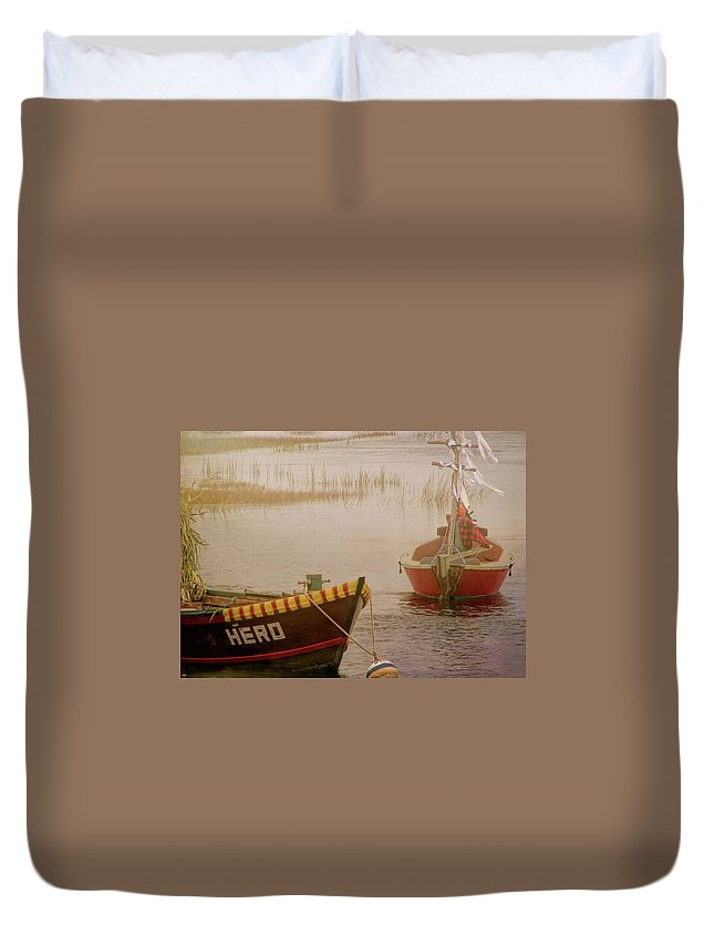 Boat Duvet Cover featuring the photograph Dennisport Marsh by JAMART Photography