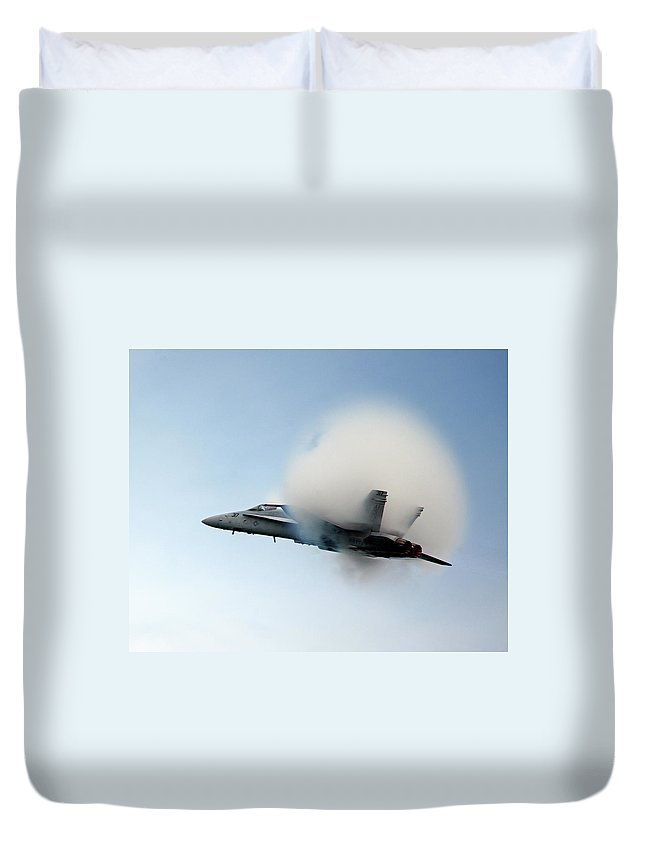 Fighter Duvet Cover featuring the photograph Dense Air by Rick Selin
