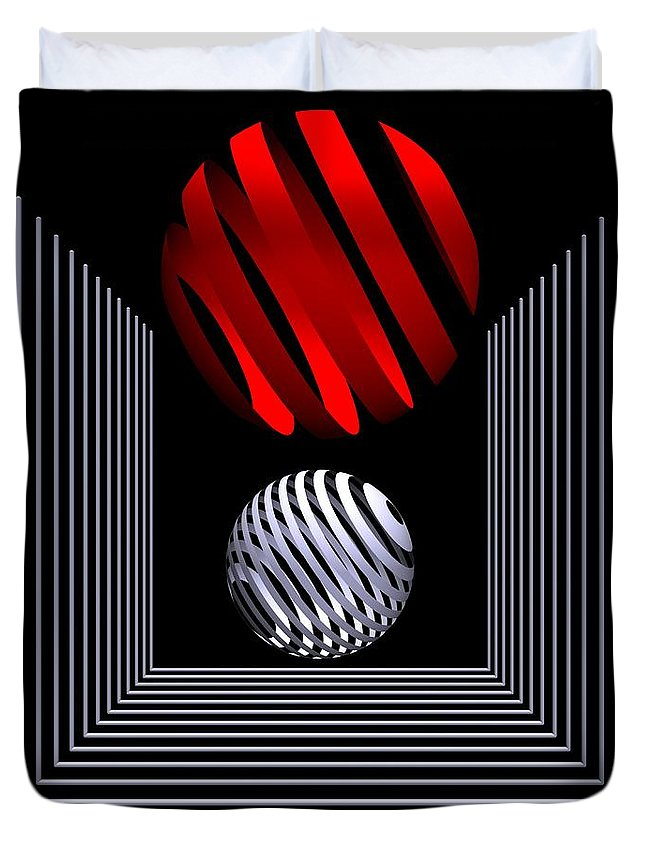 3d Duvet Cover featuring the digital art Depth -1- by Issabild -