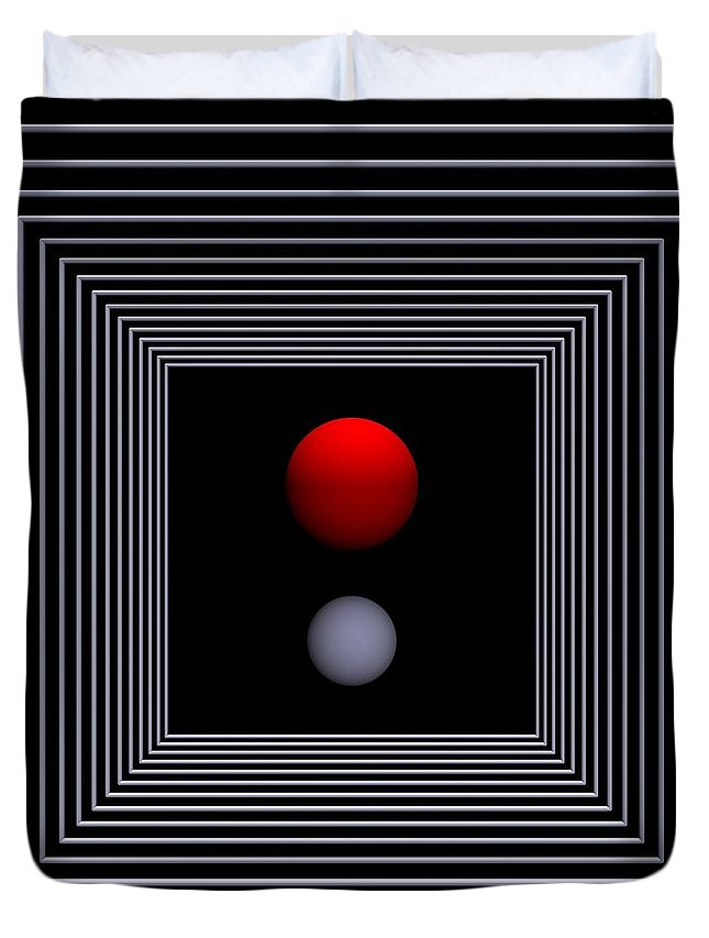 3d Duvet Cover featuring the digital art Depth  -2- by Issabild -