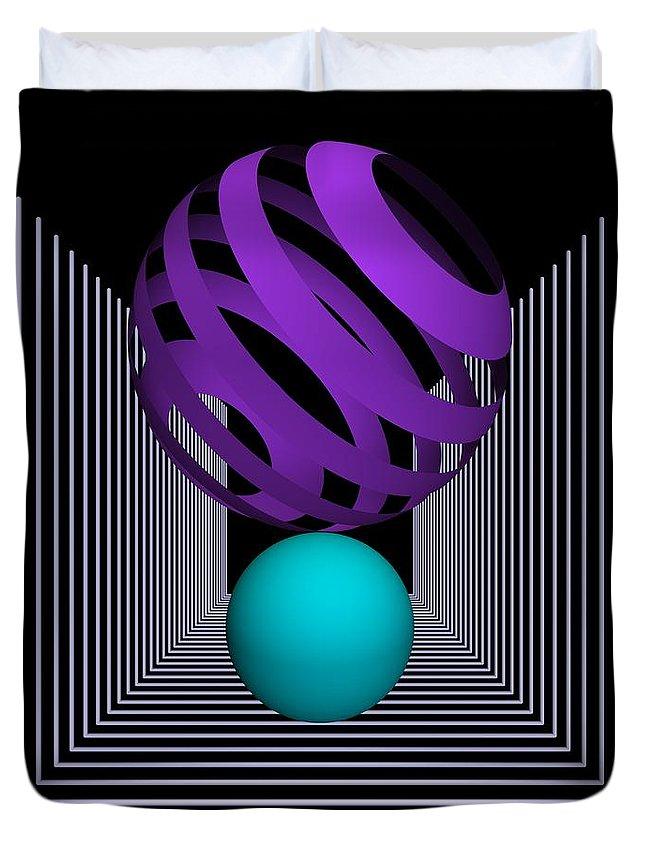 3d Duvet Cover featuring the digital art Depth -8- by Issabild -