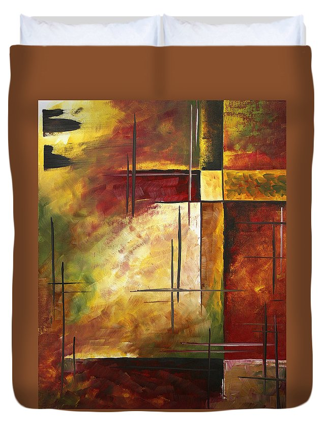 Abstract Duvet Cover featuring the painting Depth Of Emotion II By Madart by Megan Duncanson