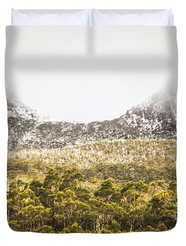 Mountain Duvet Cover featuring the photograph Depths And Ranges by Jorgo Photography - Wall Art Gallery