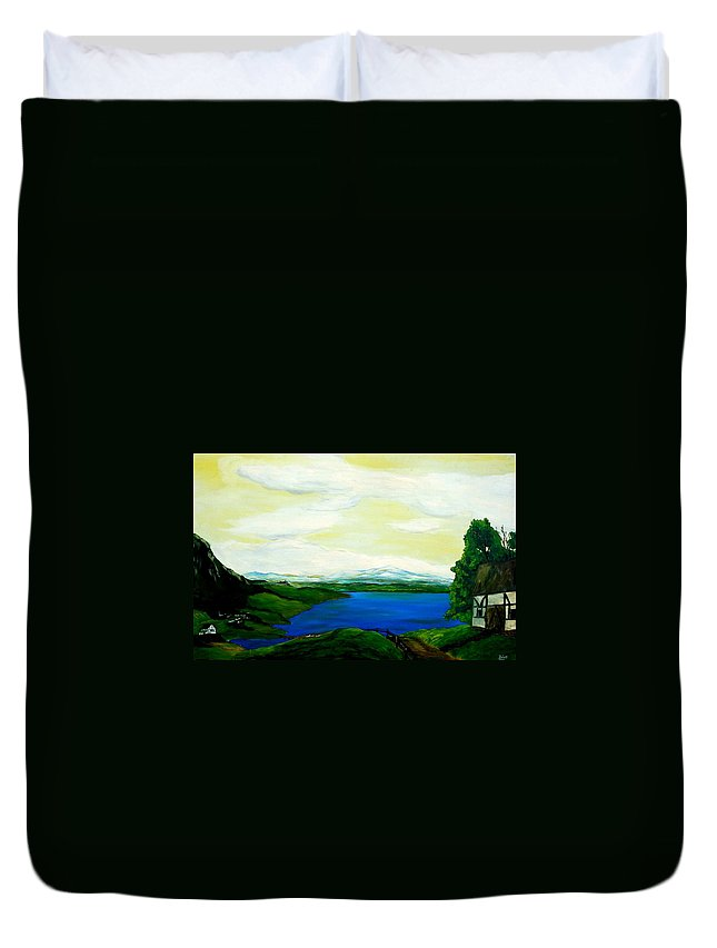 Switzerland Duvet Cover featuring the painting Der Bodensee by Robert Roth