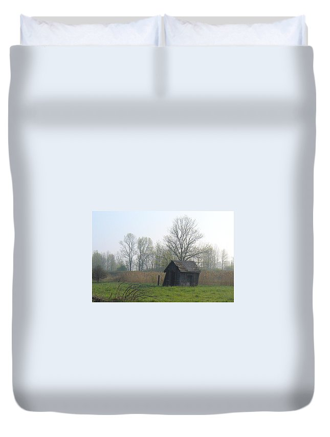 Nature Duvet Cover featuring the photograph Derelict by Peggy King