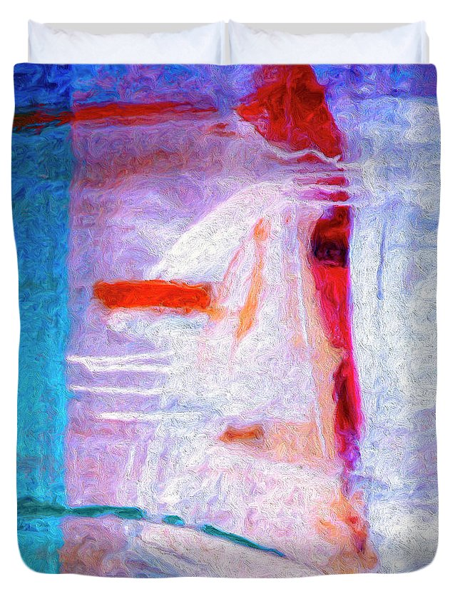 Abstract Duvet Cover featuring the painting Dervish by Dominic Piperata