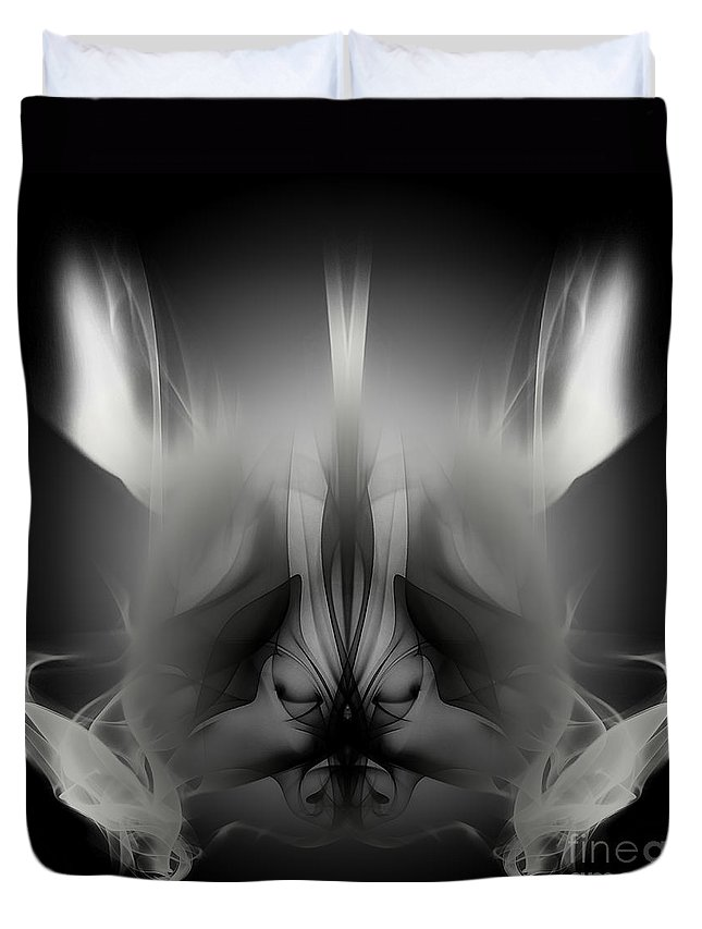 Clay Duvet Cover featuring the digital art Descent by Clayton Bruster