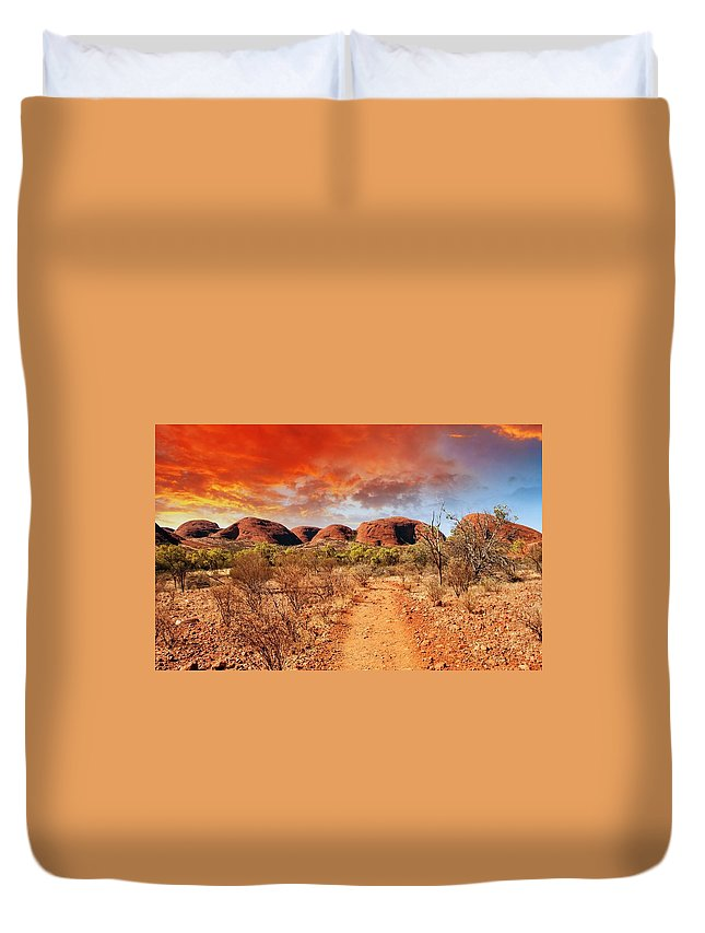 Desert Duvet Cover featuring the digital art Desert by Dorothy Binder